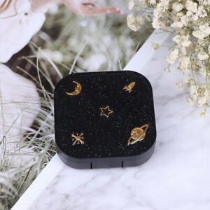 Stars Moon Mini Contact Lens Case Box Container Holder Eye Care Kit Set MirYNIA