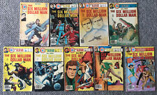 1976-1978 SIX MILLION DOLLAR MAN tv show comics #1 2 3 4 5 6 7 8 9~FULL SET 1-9