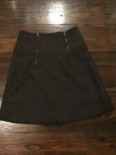Ann Taylor Loft Black Tweed Skirt Size 2P With Zippers