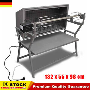 Spanferkelgrill Drehspieß Edelstahl BBQ Elektrogrill Schweine Rippen 220-240V