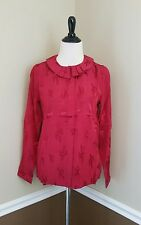Pepaloves Top S Red Cactus Shirt Peter Pan Collar Modcloth Blink Cacti Novelty
