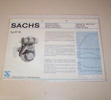 Typenblatt / Technische Daten Sachs Stationär Motor ST 96 - Stand 1974!