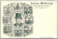 JULIUS MOHRING MINIATURE THEATER GERMAN ANTIQUE UNDIVIDED POSTCARD