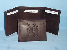DETROIT TIGERS    Leather TriFold Wallet    NEW    dkbr 3  m1