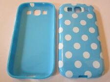 Blue and White Polka Dot Designer Plastic Samsung Galaxy S3 SIII i9300 Case