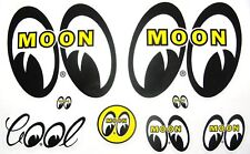 Mooneyes Decal Assorted Hot Rat Rod Car Street Drag Racing  Moon Stickers Gasser