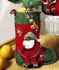 Geschenkstiefel Nikolaussack Geschenkbeutel zum Befüllen mit Motiv Nikolaus