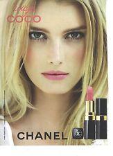 PUBLICITE ADVERTISING 2011 CHANEL rouge à lèvres COCO                     060812