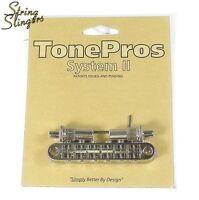 TonePros T3BT-N Metric Locking Bridge Large Posts, Nickel