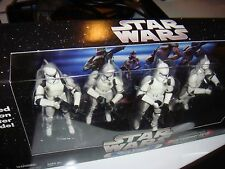 Star Wars 4-PACK WHITE Clone Troopers W/BATTLE DAMAGE LIMITED EDITION MIB RDYAFA