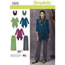 Simplicity 1323 Womens Tunics, Trousers and Infinity Scarf Size 6 - 14