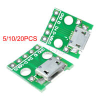 5/10/20PCS MICRO USB to DIP Converter Adapter 5 Pin B Type PCB Converter 2.54mm
