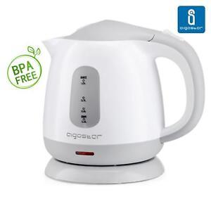 Aigostar - Bollitore Elettrico 1L 1100W Bianco e Grigio,BPA Assente.