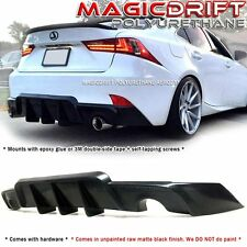 Made for 14-16 Lexus IS250 IS350 JDM AW Walker Rear Diffuser Bumper Lip w/ Fins