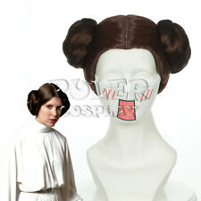 Short Star Wars Leia Organa Solo Princess Brown Cosplay Wig COS-405B
