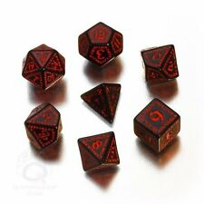 Q-Workshop Runic RPG Dice Set (7 Polyhedral) Black & Red SRUN06