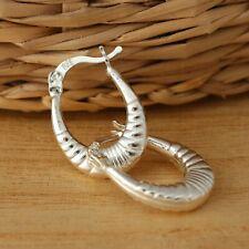 925 Sterling Silver Creole Hoop Earrings Huggie Hoops Earrings