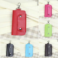 Key Case PU Leather Bag Wallet Clip Chain Small Purse Pouch Women Keyring HC