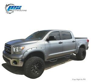 Paintable Pocket Bolt Fender Flares Fits Toyota Tundra 2007-2013 Front Long