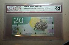 CANADA 2004 $20 EYG(0.315M-0.405M) Replacement BCS Graded UNC 62 *Scarce*
