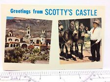 Postcard Greetins from Scottty's Castle Death Valley Park California CA Vintage