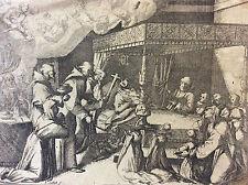 Jacques CALLOT (1592-1635) mort de Marguerite d' Autriche et Espagne XVII XVIII