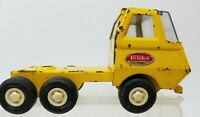 Vintage 1970s Tonka Mini Yellow Lowboy Flatbed Truck Cab No Trailer