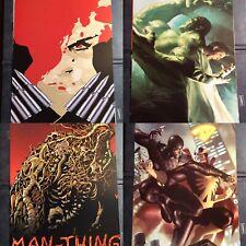 """Marvel Mini Art Print Set - Black Widow, Hulk, Man Thing All 12""""x8"""" Gear & Goods"""