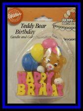 NEW! Wilton ***HAPPY BIRTHDAY TEDDY BEAR CANDLE***NIP!!