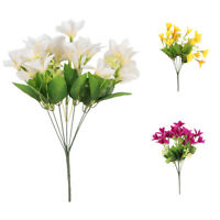 Lily Simulation Lilium  Silk Flower Plants Bouquet Outdoor Indoor Decor