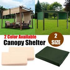 2Pc 15.5'/17' Sun Shade Pergola Canopy Patio Outdoor Awning Cover Garden  UK D3