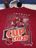 Steve Yzerman Detroit Red Wings #19  NHL cup crazy T-Shirt c23