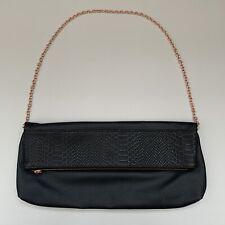 Primark Atmosphere Evening Bag Black - Rose Gold Chain