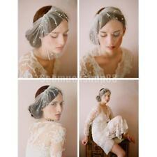 Brautperlen Birdcage Gesichtsschleier mit Kamm Fascinator Hochzeit