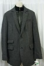 INC International Concepts Mens Blazer Sz L Charcoal Herringbone Wool Jacket