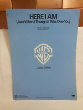1980 AIR SUPPLY Sheet Music HERE I AM (Just when I Thought I Was Over You) DELUX