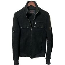 Belstaff 85th Anniversary Mens Zip Knit Wool Jacket Made in Italy Charcoal M 38