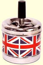 GREAT BRITAIN Spinning Push Down ROUND Ashtray