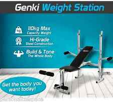 Home Hi Grade Steel Gym Weight Station Bench Press Multi Level Elevated Workout