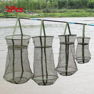 Fishing Bait Trap Cast Dip Net Cage Crab Fish Crawdad Shrimp Foldable brand new