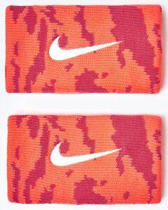Nike Rafael Nadal Limited Edition Dri Fit Premier Swoosh Tennis Wristbands Red