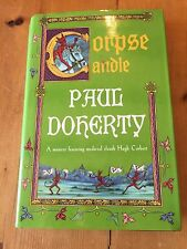 "2001 1ST EDITION ""CORPSE CANDLE"" PAUL DOHERTY FICTION HARDBACK BOOK"
