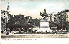 B3884 Italy Genova Piazza Corvetto e Monumento V E    front/back scan