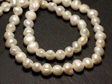 10pc - Perles Culture Eau Douce Boules 6-9mm Blanc irisé - 8741140020962