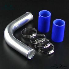 """90 Degree 38mm 1.5"""" Aluminum Turbo Pipe Piping Tube + Silicone hose Clamps Kits"""