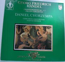 """HÄNDEL ORGELKONZERTE NR. 1 - 5 DANIEL CHORZEMPA JAAP SCHRÖDER 12"""" LP (g501)"""