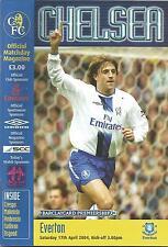 Football Programme - Chelsea v Everton - Premiership - 17/4/2004