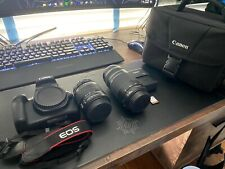 Canon EOS Rebel T6 18-55mm 75-300mm Kit 64GB SD Card Included