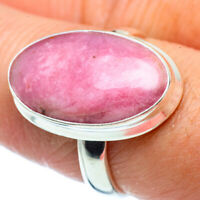 Rhodonite 925 Sterling Silver Ring Size 8.25 Ana Co Jewelry R38371F