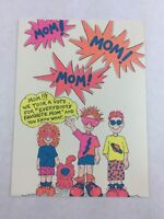 Vintage Mother's Day Card 3 Children American Heart Beats New Made in USA 1991